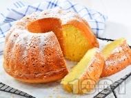 Лесен домашен лимонов кекс с кисело мляко